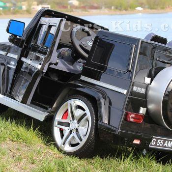 Электромобиль Mercedes-Benz G55 AMG (кожаное кресло, резина, музыка, пульт, глянцевая покраска)